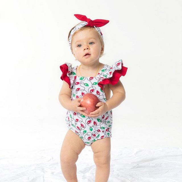 Romper do bebê da Menina Define Algodão de Manga Curta Bonito Colorido Conjunto Com Headband Do Bebê Recém-nascido Bebe Roupas de Festa de Aniversário Para 3-24 M