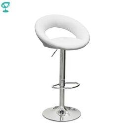 94502 Barneo N-84 جلدية المطبخ الإفطار بار البراز قطب كرسي طويل الساق الأبيض اللون شحن مجاني في روسيا