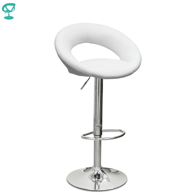 94502 Barneo N-84 cuero cocina barra de desayuno taburete giratorio Bar silla color blanco envío gratis en Rusia