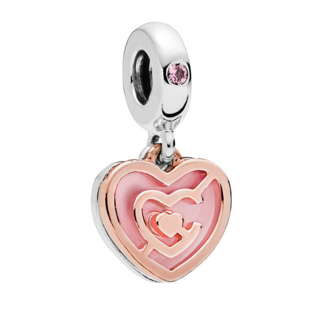 2019 Path to Love Charm Fits Pandora Bracelets Charms Silver 925 Original Heart Float Follow You Pendant DIY Bead Making Jewelry
