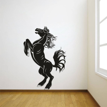 YOYOYU 40 colors Vinyl wall stickers muraux Horse Pattern Removeable Wall Decal Livingroom Dining  Bedroom Wall Decor ZX204 quality floating dandelion pattern removeable wall stickers