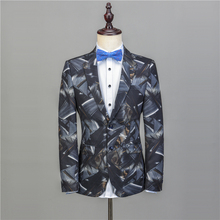 NA52 Fashion Suit Groom Tuxedos Stylish Groomsman Suit Custom Made Man Suit Stage Wear Casual Men Stage Clothing 2Ps Costume
