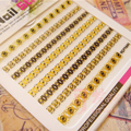 1 Hoja de Oro de Encaje Etiqueta Engomada Del Clavo 3D 6.5*5.5 cm Elegante Manicura Nail Art Sticker 693-695