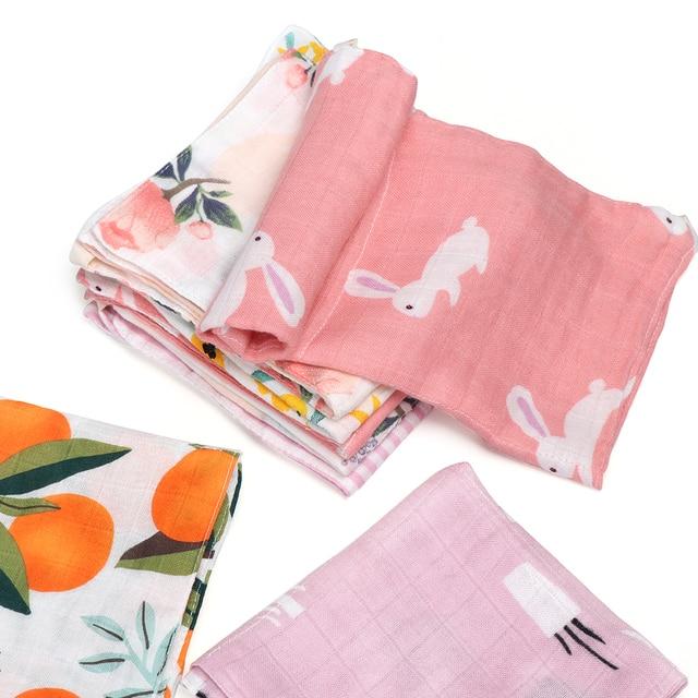 3pcs Newborns Children Water Absorption Wipe Cloth Infant Handkerchief Muslin Towel Baby Bibs Feeding Cloth Random Color