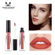 1 PSC Miss Rose Matte Lip Gloss Maquiagem Matt Liquid Lipstick Women Make Up Cosmetics Beauty Lipgloss Waterproof Long Lasting цена в Москве и Питере