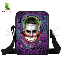 Batman Joker Mini-sacos Do Mensageiro Estudantes Sacos de Ombro Das  Mulheres Dos Homens Saco Do Telefone Bolsas Crossbody Bolsas. ed2c8505044