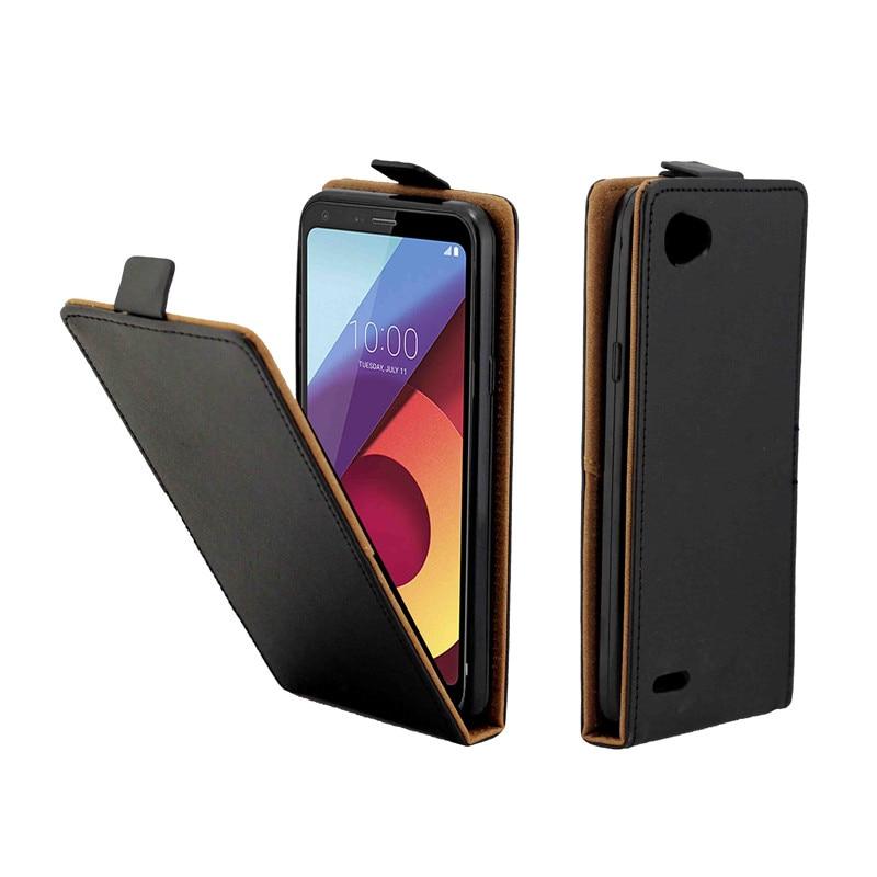 Business Leather Case For Coque LG Q6 Q6A Vertical Flip