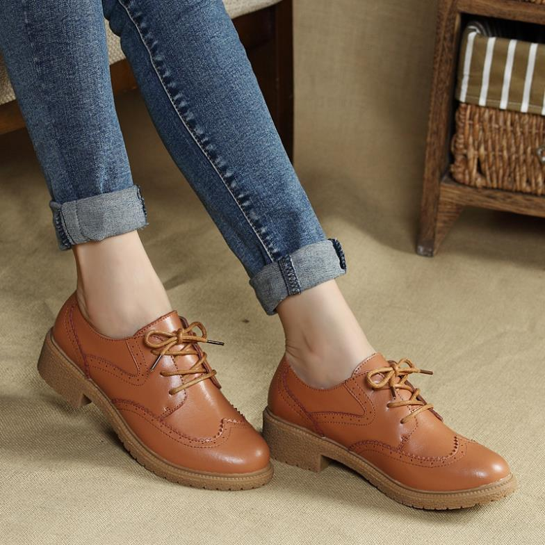 Soft Leather Lace Up Shoes Ladies