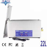 JIETAI Digital 22L 480W 40kHz Ultrasonic Cleaner Heated Timer Stainless Bath Baskets Industrial Parts Medical Lab Instruments