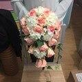 2016 Новые Смешанные Искусственные Цветы Bruids Boeket Роуз Свадебный Букет Пляж Свадебный Букет Де Mariage Каскад Рамос Де Novia