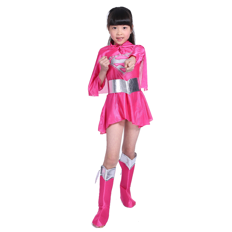Kids Pink Supergirl Costume Toddler Girls Supergirl Dress Up Outfit Superhero Halloween Fancy Dress Child Halloween Costumes-in Girls Costumes from Novelty ...  sc 1 st  AliExpress.com & Kids Pink Supergirl Costume Toddler Girls Supergirl Dress Up Outfit ...