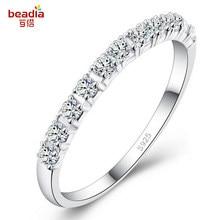 Anel de noivado feminino, strass de linha única anel de noivado tamanho 4/5/6/7/8/9/10/11/12/13 1 peças/lote branco roxo rosa
