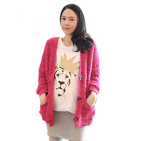 Plus Size Autumn Cardigans Knitwear Sweater Maternity For Pregnant Women Coat Thicken