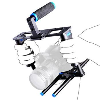 Aluminum ABS Camera Video Cage Film Movie Making Kit DSLR Cage & Handle Grip & Rod for Canon 5D2 650D 6D/7D/70D/800D/700D