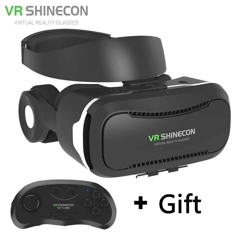 newest vr glasses shinecon 4 0 virtual reality 3d google cardboard vr box with bluetooth headset. Black Bedroom Furniture Sets. Home Design Ideas