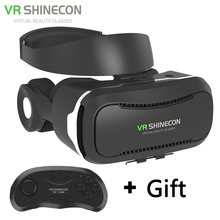 Newest VR Glasses Shinecon 4.0 Virtual Reality 3D Google cardboard VR BOX with Bluetooth Headset For 4.5-6.0 Inch Smartphones