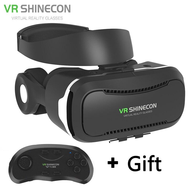 Newest <font><b>VR</b></font> <font><b>Glasses</b></font> Shinecon 4.0 <font><b>Virtual</b></font> <font><b>Reality</b></font> 3D Google cardboard <font><b>VR</b></font> <font><b>BOX</b></font> with Bluetooth Headset For 4.5-6.0 Inch Smartphones