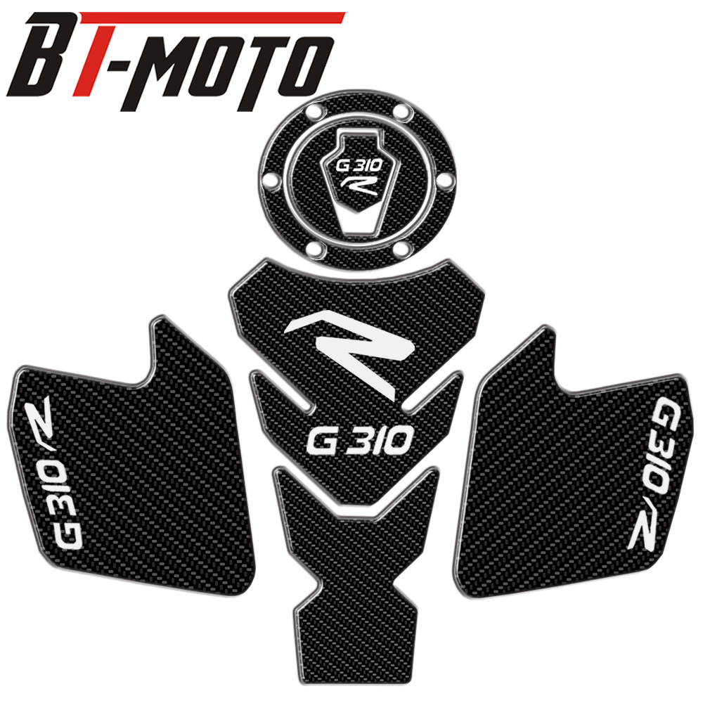 Motorcycle Real Tank Pad Gas Fuel Sticker Moto Decal Emblem Protector FOR BMW G310R G310GS G310 R G310 GS