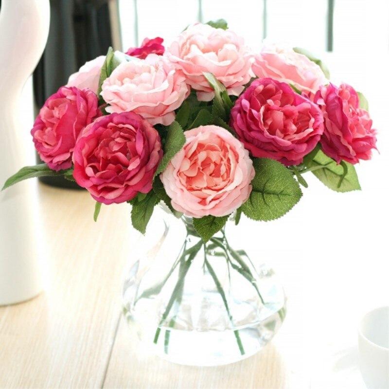 NieNie Silk Artificial Flower 1 pc Wedding Roses Artificial Flowers Bridal Bouquets Flower Wedding Decoration DIY Home Decor