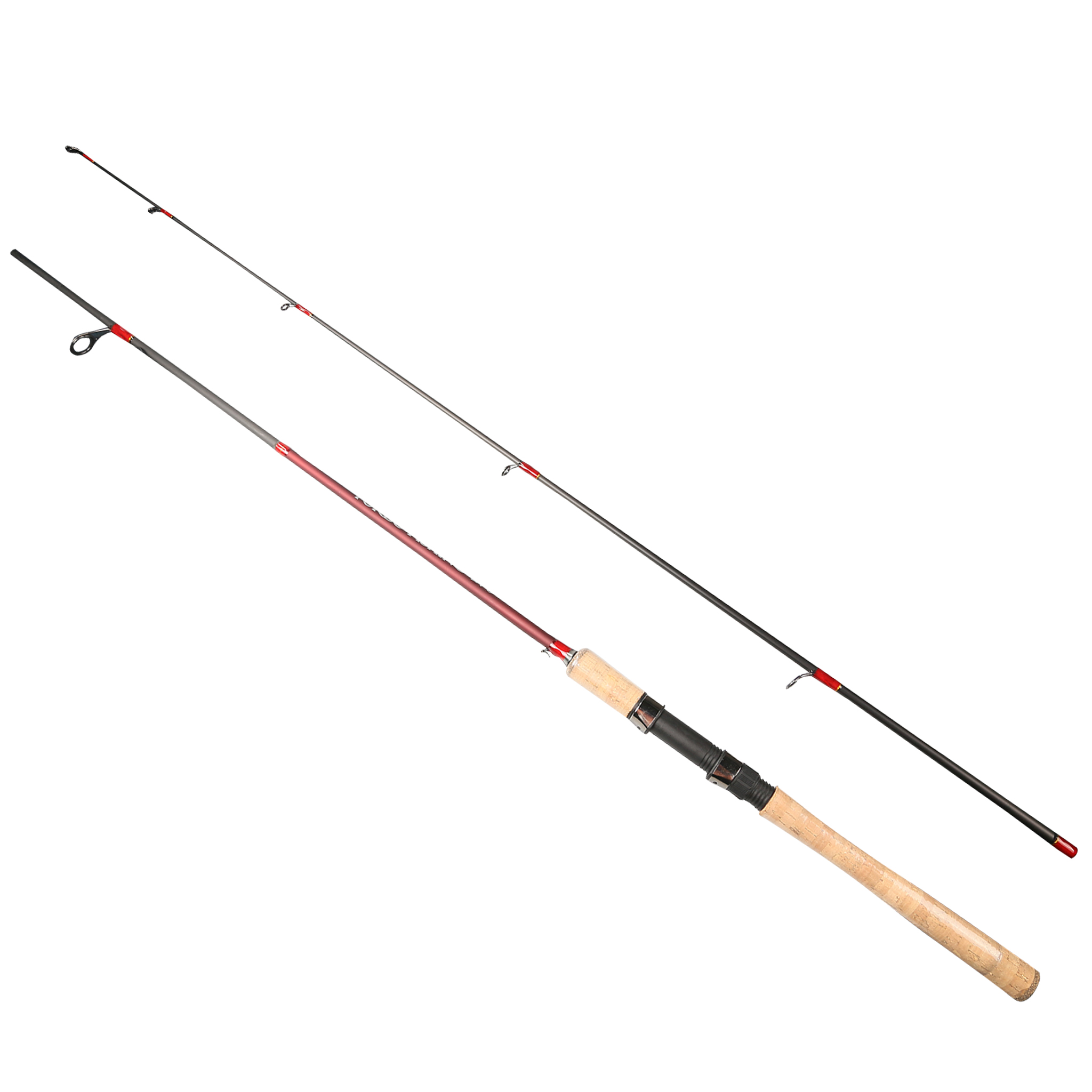 2.1-2.7m 2 Section Red Fishing Rod Spinning Lures Rod 15-45g Lure Weight 12-25 Line Weight MH 95% Carbon Fiber Pole for Weever