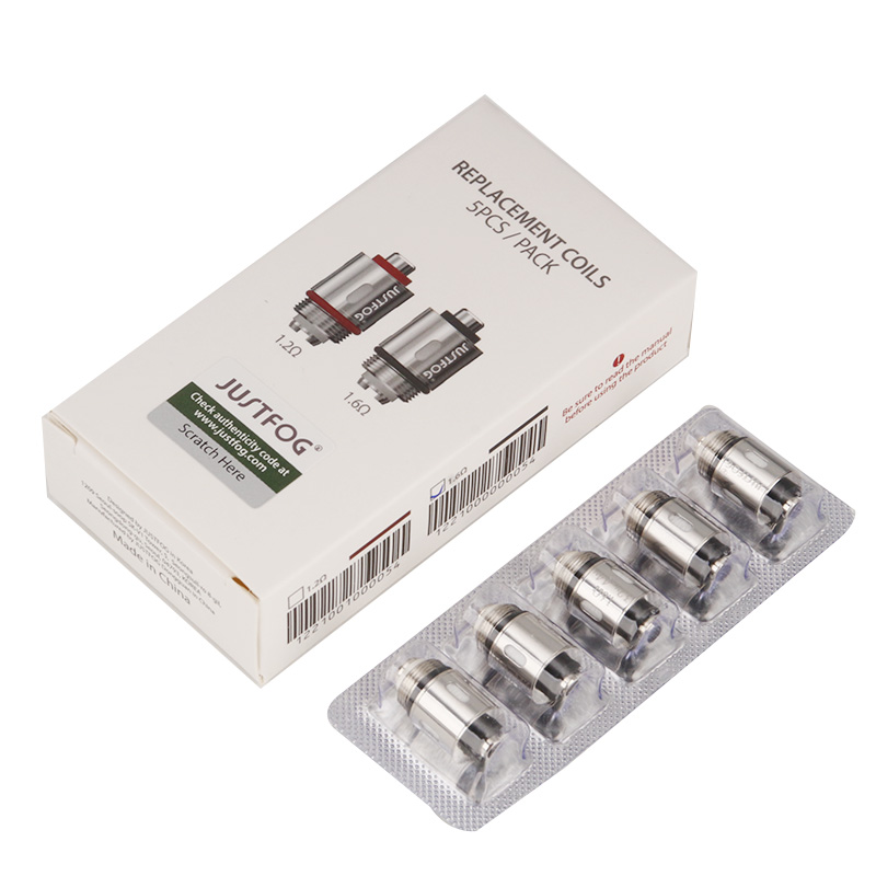 10pcs/lot Original JUSTFOG Q16 Vape Coil 1.2ohm 1.6ohm For Justfog C14 Q14 Q16 P16A P14A Kit Electronic Cigarette Coil Head Core