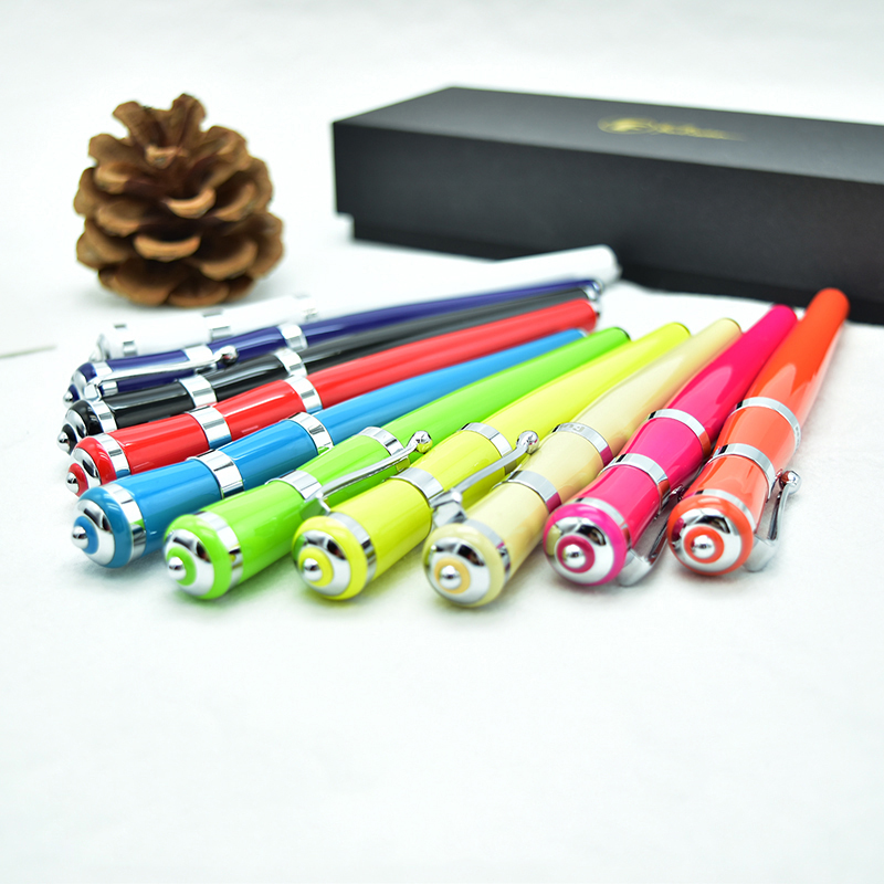 1pcs Creative Colorful Fountain Pen EF F M Nib for Choose Women Writing Metal Ink Pens with Gift Box School Office Supplies1pcs Creative Colorful Fountain Pen EF F M Nib for Choose Women Writing Metal Ink Pens with Gift Box School Office Supplies