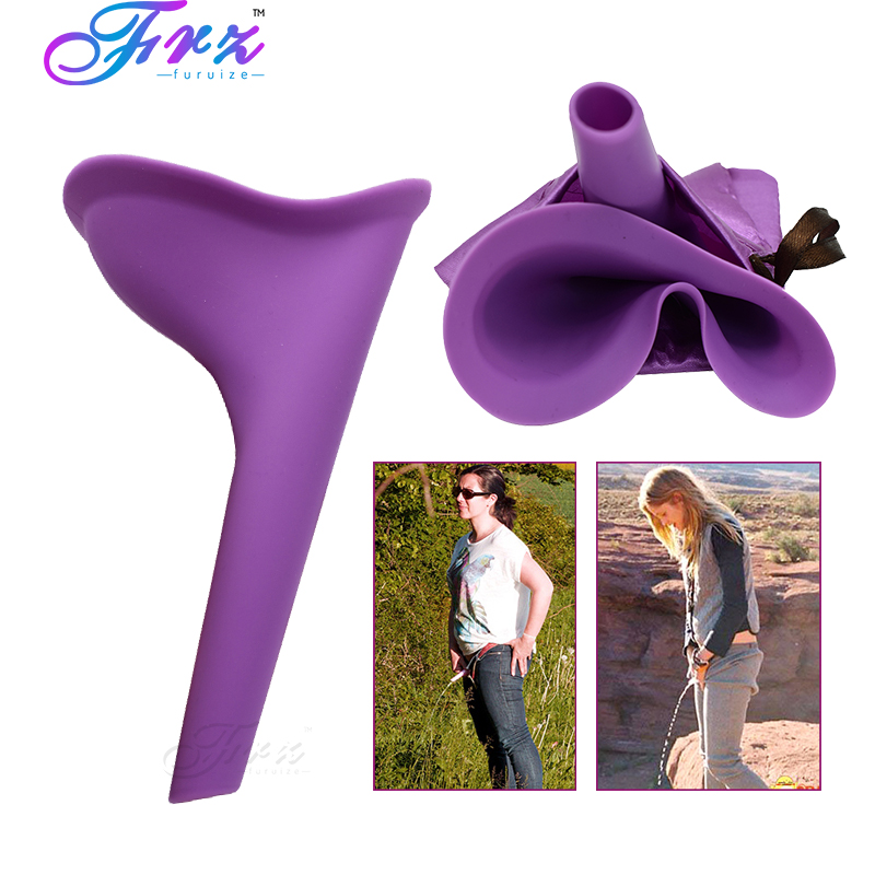 Women Travel Urination Toilet Female Urinal Stand Up Pee Portable Women Camping Urine Device Soft Silicone Urination Device in Feminine Hygiene Product from Beauty Health