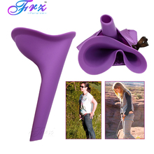 Women Travel Urination Toilet Female Urinal Stand Up & Pee Portable Camping Urine Device Soft Silicone