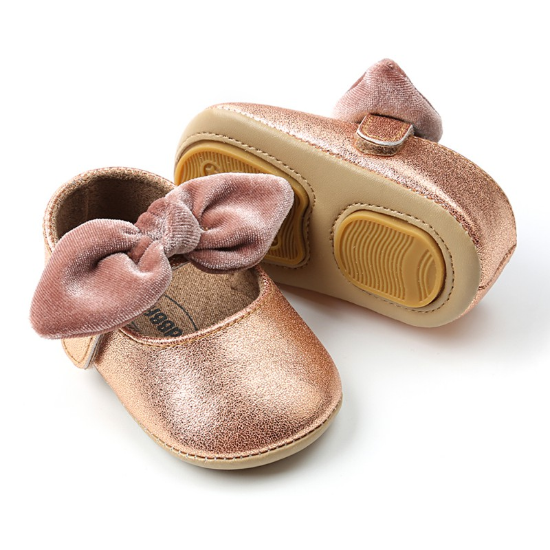 0-18M Baby Girl Shoes Spring Summer Bow-knot Soft Sole Shoes Anti-slip New Princess First Walkers  Shoe For Girl