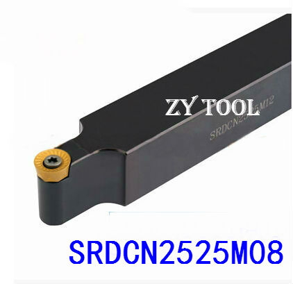 SRDCN2525M08 25*25mm Metal Lathe Cutting Tools Lathe Machine CNC Turning Tools External Turning Tool Holder S-Type SRDCN