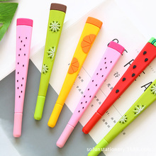 40 Pcs/lot Cute Fruit Gel Pens for Writing Kawaii Watermelon 0.38MM Black Ink Pen Student Gift Office School Supplies