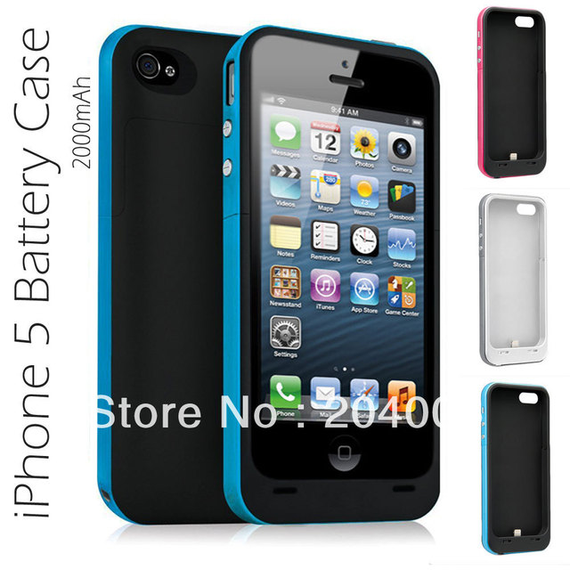 New arrival 2000mAh power pack plus for iphone5 External Backup Battery charger Case for iphone 5 5G Free shipping