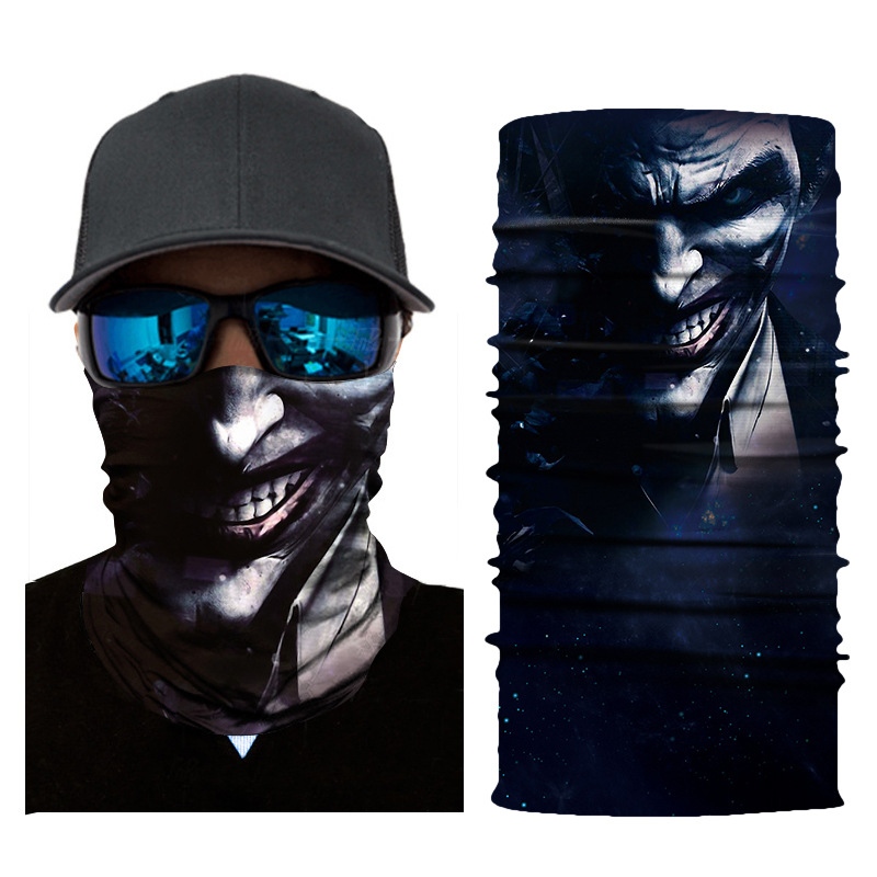 3D print Skeleton Ghost Face Windproof Mask Outdoor Sports Warm Ski Caps Bicyle Bike Balaclavas Scarf Costume Halloween Cosplay