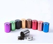 1PC Tinplate Food Cans Tea Trank Coffee Candy Seasoning Storage Box Metal Sealed Jar Kitchen Accessory Organizer JO 1066
