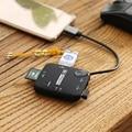 -Tipo C USB 3.1 OTG Hub 3 Portas USB 2.0 Hub & TF SD Adaptador de Leitor de Cartão de memória Portátil Para SD TF MS M2 Cartões Suporte Hot-swap