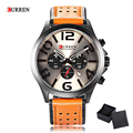 Original Curren 8244 Quartz Watch Fashion Luxury Casual Men Watches Stereo Arabic Number Display Waterproof Relogio Masculino