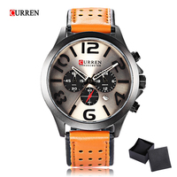 Original Curren 8244 Quartz Watch Fashion Luxury Casual Men Watches Stereo Arabic Number Display Waterproof Relogio