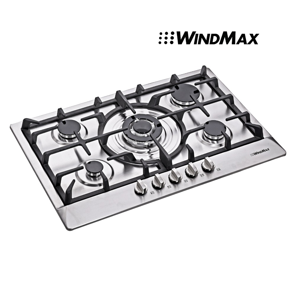 hot 30 inch stainless steel 5 burner builtin stoves ng lpg gas cooktop cooker