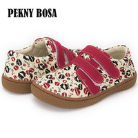 Pekny Bosa branded High Quality Fashion canvas shoes Kids Children barefoot Shoes For Boys And Girls kiss printed sneaker 25 35
