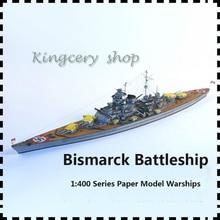 New DIY 1:400 Bismarck Battleship,Cardboard/Karton/DIY paper Model,PUZZLE 3D Toys/Cubic kids toys
