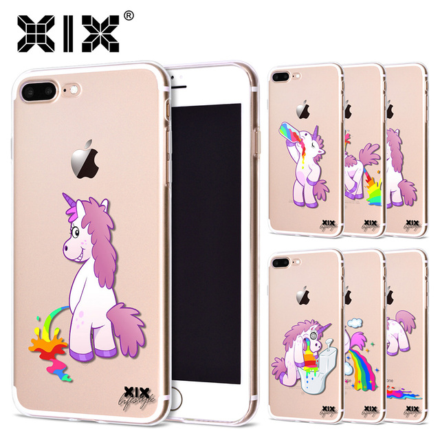 Cute Rainbow Unicorn Cases For iPhone 7
