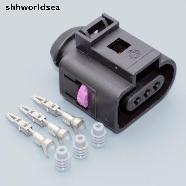 shhworldsea 5/30/100sets 1J0973703 Camshaft Cam Sensor Pigtail Plug Connector case for Audi A4 A6 AVK 3.0 1J0 973 703