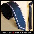Moda estilo da Marca dos homens Novos Laços Com frame Preto Jacquard Gravata frete grátis
