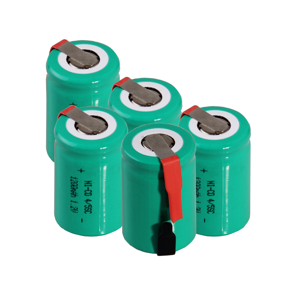 5 pcs 4/5SC 1200mah 1.2v battery NICD rechargeable batteries for electric screwdriver electric drill for emergency light toy