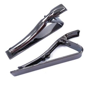 Gunmetal Tie Bars/Clips 42x5mm Glue Pad TB008