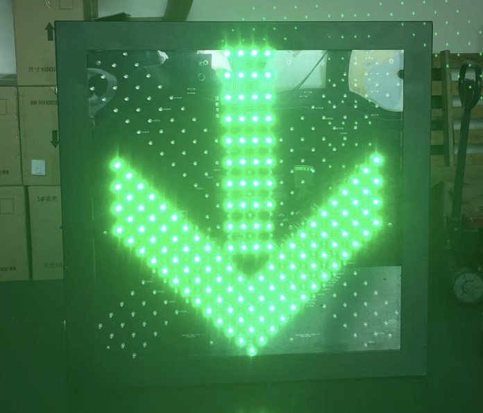 LED Traffic Signs 600*600*70 Pass/forbidden Sign Green Pass, Red Forbidden. Led Traffic Signs.