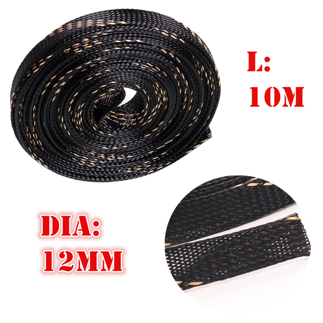 PET Nylon Braided Diameter 12mm Insulation Wire Cable Protecting ...