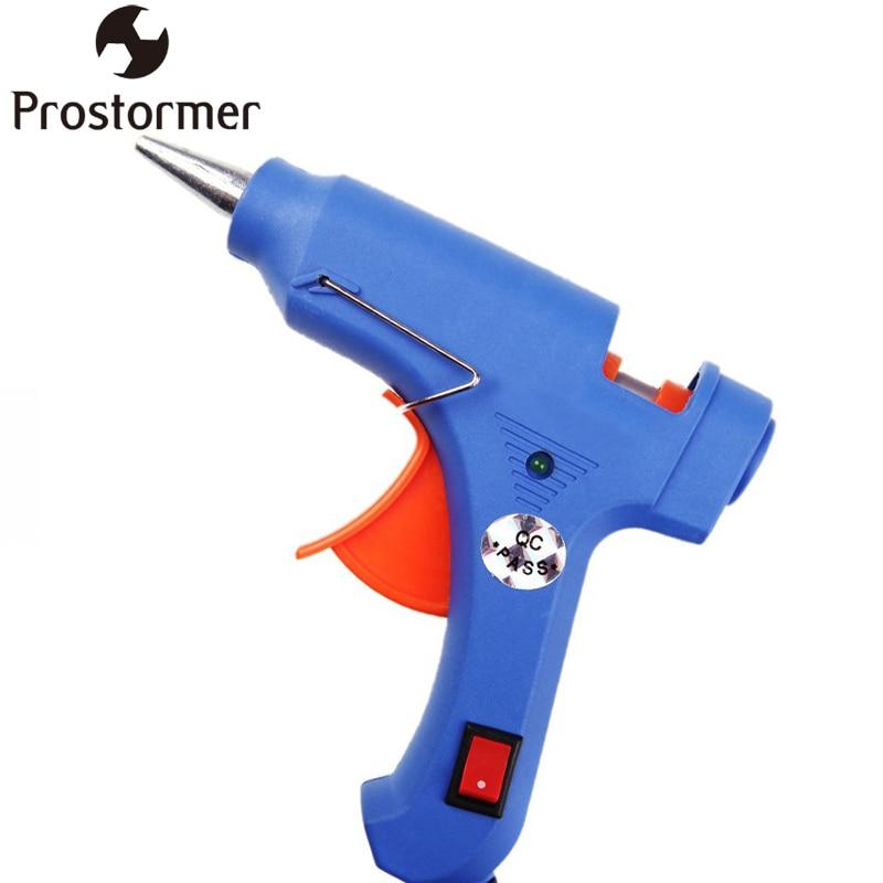 Prostormer Profissional Aquecedor de Alta Temperatura Pistola de Cola Quente 20 W Enxerto reparação de Pistola de ar quente com 10 pcs bastões de cola 7mm Pneumático DIY ferramentas