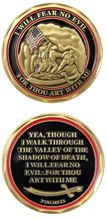 Custom coins low price Military US Marine Corps  Psalms 23 Challenge Coin New Raising the Flag oem metal milirary FH810244