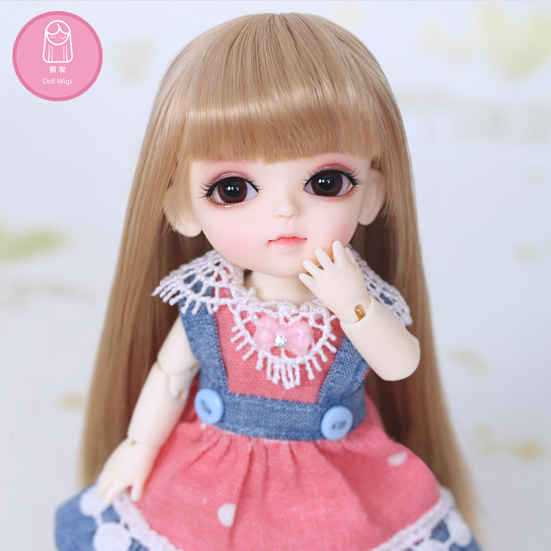 Wig For BJD Doll 1/8 bjd sd doll wig high-temperature long straight hair for Baby Hair Lati 2 colour choose L30 wig for bjd doll 7 8 inch doll accessories high temperature wig 1 4 bjd doll long hairstyle l4 02 1bcolor lovely hair delicate